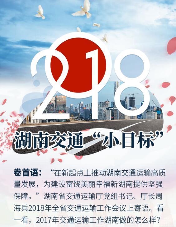 """2018,湖南交通""""小目标"""""""