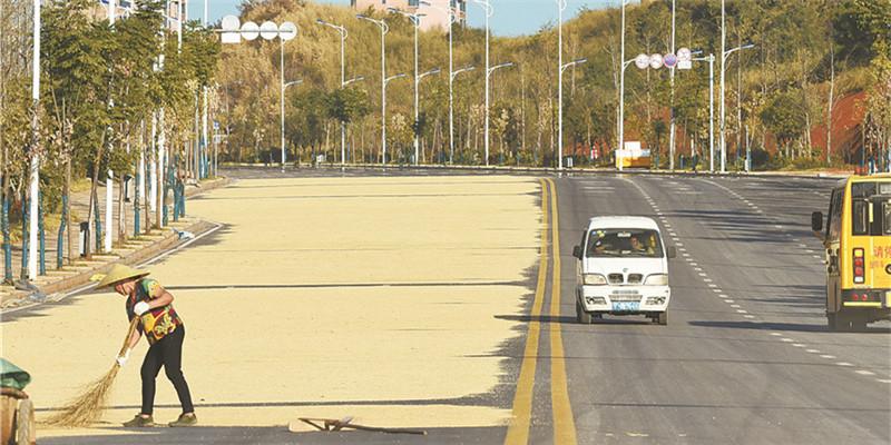 莫把公路當曬場