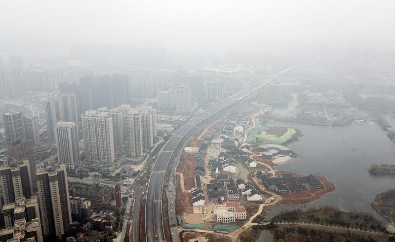 长沙市湘府路(河西段)快速化改造工程桥梁主体全部浇筑完成