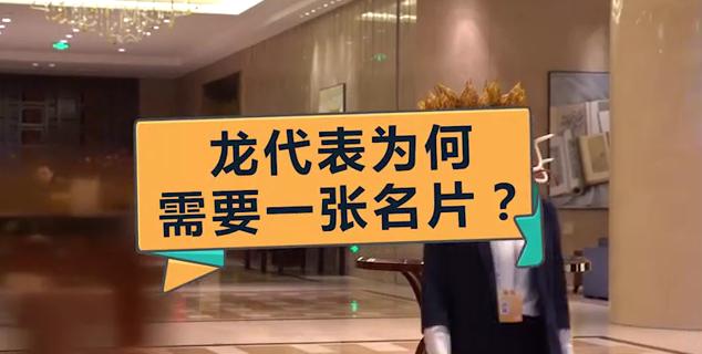 【小苏带你看两会】龙代表为何需要一张名片