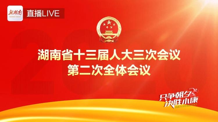 直播回顾>>湖南省十三届人大三次会议举行第二次全体会议