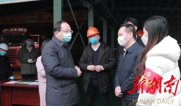 杨懿文调研防疫物资生产企业和复工复产企业疫情防控有关工作