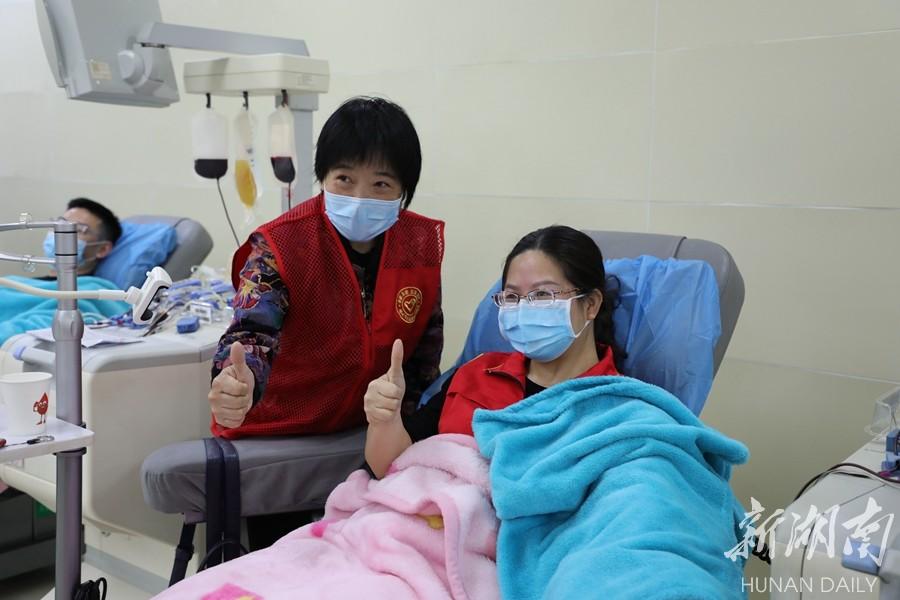 """别样""""妇女节"""" 献血表爱心 新湖南www.hunanabc.com"""