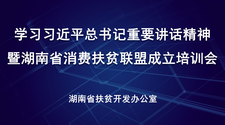直播回顾>>湖南省消费扶贫联盟成立培训会