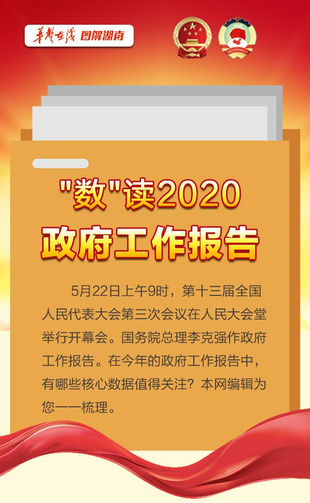 """【图解】""""数""""读2020政府工作报告"""