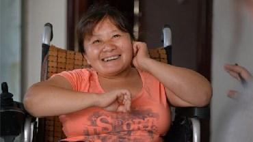 轮椅上的幸福时光